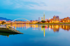 View of Keelung river and Taipei city Royalty Free Stock Photos