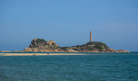 View of the Kega lighthouse in Phan Rang, Vietnam Royalty Free Stock Images