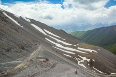 View from Kegety pass in Tien Shan mountains Stock Photography