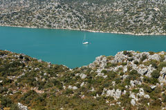View of Kekova seen from Kalekoy, Antalya. Stock Photos