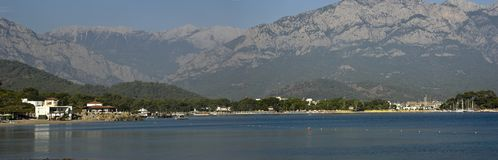 View of the Kemer bay stock photos