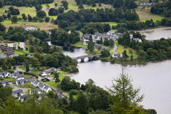 The view of Kenmore in scotland from Drummond Hill Stock Photos