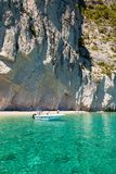 View of  Keri blue caves  in Zakynthos Zante island, in Greece Royalty Free Stock Photography