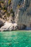 View of  Keri blue caves  in Zakynthos Zante island, in Greece. View of Keri blue caves  in Zakynthos Zante island, in Greece Stock Photo