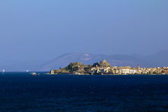 View of Kerkira, Corfu. View of Kerkira on the island of Corfu from the sea Stock Photography