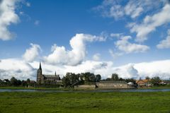 View on Kessel, The Netherlands. A view on the village of Kessel in the Netherlands with the Maas River on the foreground Royalty Free Stock Photos