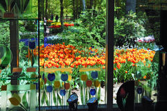View at the Keukenhof Garden Stock Image