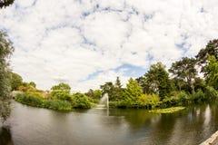 View from Kew Gardens, Royal Botanical Gardens in London stock photos