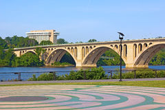 View on Key Bridge from Georgetown Park. Royalty Free Stock Photo