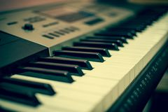 View of a keyboard - the music creator royalty free stock image