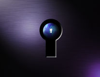 View from a keyhole Royalty Free Stock Photo