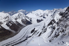 View from Khan Tengri peak, Tian Shan mountains Stock Image