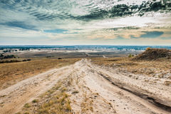 View of Kharkov desert in autumn Royalty Free Stock Image