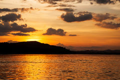 View of Khong river. Chiang Khan, Loei, Thailand Stock Photography