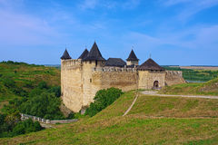 View of Khotyn Fortress Royalty Free Stock Images