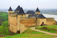 View of Khotyn fortress Stock Photography