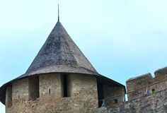View of Khotyn Fortress (Ukraine) Royalty Free Stock Photography