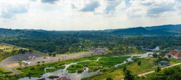 View from Khun Dan Prakan Chon Dam Royalty Free Stock Image