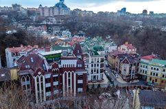 View of Kiev from the Castle Hill stock photos