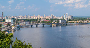 View of Kiev from an observation point Stock Images