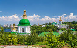 View of Kiev Pechersk Lavra, listed in UNESCO Stock Photo