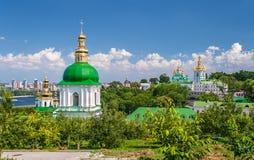 View of Kiev Pechersk Lavra, listed in UNESCO. View of Kiev Pechersk Lavra, the orthodox monastery included in UNESCO world heritage list. Ukraine Stock Photo