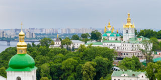 View of Kiev Pechersk Lavra, the orthodox monastery Stock Images