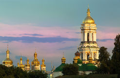 View on Kiev Pechersk Lavra, the orthodox monastery in Kiev,Ukraine Royalty Free Stock Photography