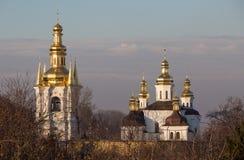 View of Kiev Pechersk Lavra Orthodox Monastery, Ukraine Stock Photo