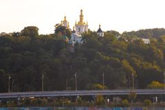 Kiev Pechersk Lavra, Ukraine. View of Kiev Pechersk Lavra Orthodox Monastery, Ukraine Stock Photo