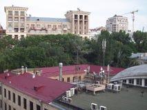 View of Kiev, roofs. Old buildings in Kiev Stock Photos