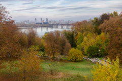 View on Kiev from Spivoche field Royalty Free Stock Images