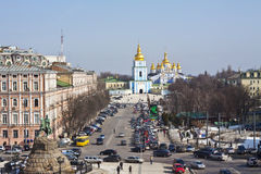 View on Kiev street Stock Images