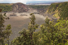 View into the Kilauea Iki Crater Royalty Free Stock Image