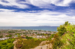View from Kiliney Hill by Dublin. On village and coast Stock Photography