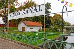 View of Kinda Kanal - Linkoping Stock Images