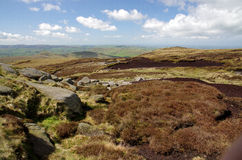 View from Kinder Scout England Royalty Free Stock Images