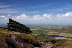 View from Kinder Scout (Peak District , England) Royalty Free Stock Photography