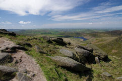 View from Kinder Scout (Peak District , England) Stock Images