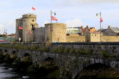View of King John's Castle, 13th century castle on King's Island,Limerick,Ireland,Fall,2014 Stock Photo
