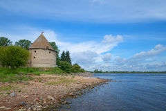 View of the Kingdom tower on the banks of the Neva. The Oreshek Fortress, Russia Royalty Free Stock Photography