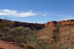 View into the Kings Canyon, Watarrka National Park, Northern Territory, Australia. View into the Kings Canyon, Watarrka National Park, Northern Territory stock photography