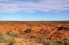 view of the Kings Canyon, Watarrka National Park, Northern Territory, Australia stock image