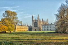 The glorious Kings College Chapel in Cambridge royalty free stock photo