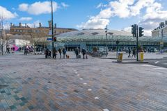 View of Kings Cross station in London UK Stock Photography