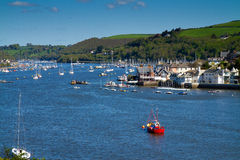 A view of Kingswear from Dartmouth. A view of Kingswear across the River Dart from Dartmouth, Devon, England Royalty Free Stock Images