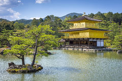 View of Kinkaku-ji (Temple of the Golden Pavilion) in Kyoto, Japan Royalty Free Stock Photos