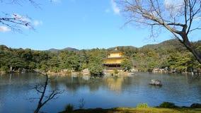 View of Kinkaku-ji temple in Kyoto, Japan.  stock video footage