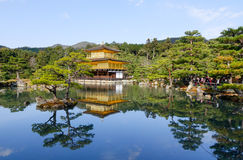 View of the Kinkaku temple in Kyoto, Japan Stock Images