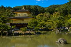 Golden Pavillion Kinkakuji Temple in Kyoto. Golden Pavillion at Kinkakuji temple in Kyoto also called Golden Temple, one of the landmarks of Kyoto Royalty Free Stock Images